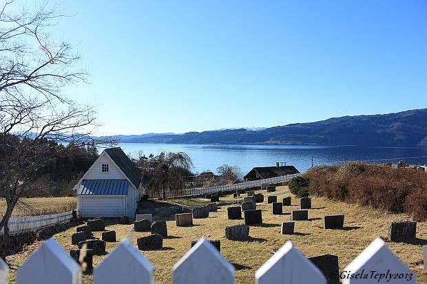 Blick über den Hardangerfjord...