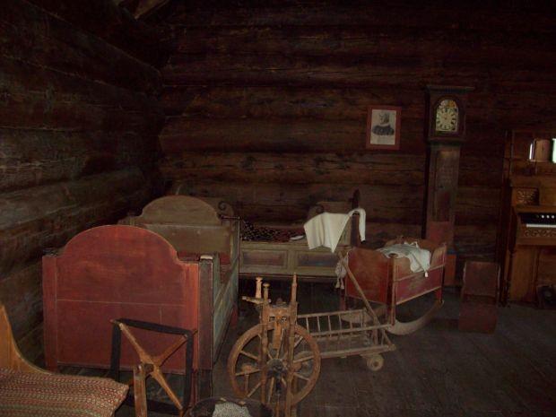 Ein Wohnraum in der Rauchlochkate aus dem 18. Jahrhundert...