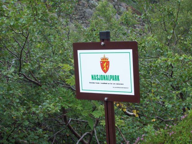 Hier fängt der Nationalpark Folgefonna an...