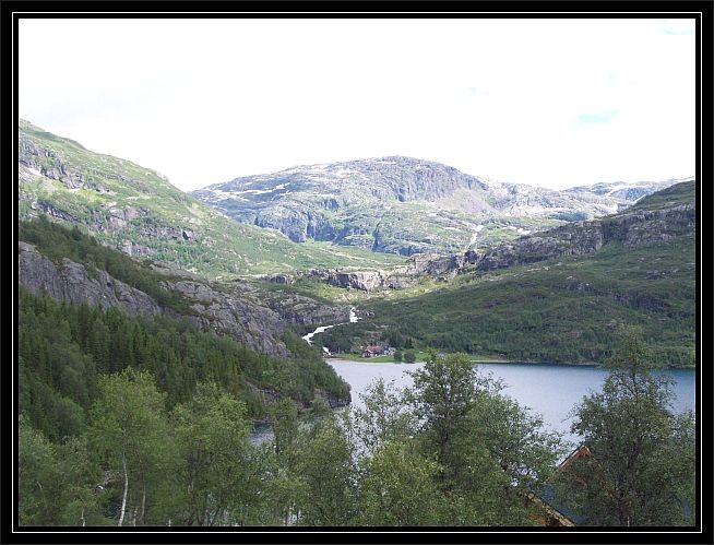Blick auf Øyni von dort kommt man nach Nasastøl