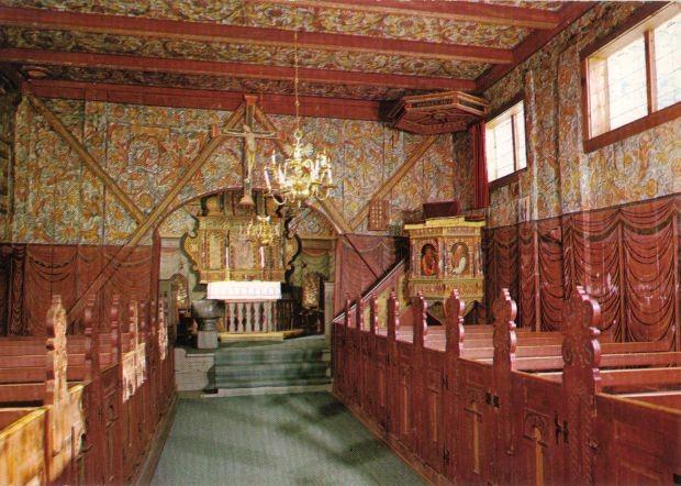 Innenansicht der Stabkirche