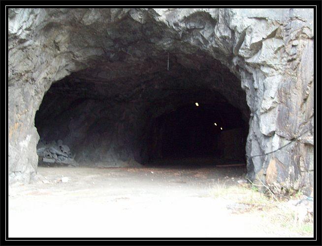 hier befindet sich der Notausgang des neuen Tyssedaler Tunnels