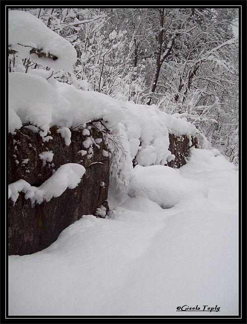 verschneite Ruinen...