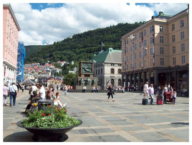Orgallmenningen, Fussgaenerzone in Bergen...