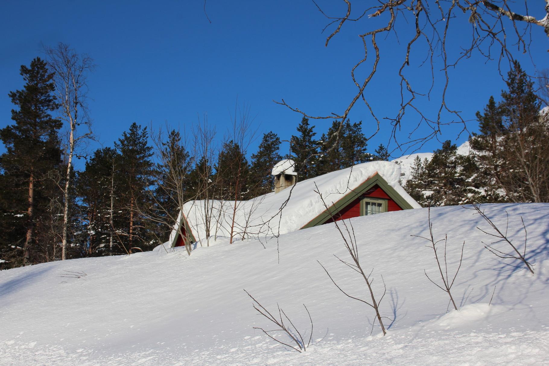 Eingeschneite Hütten...da