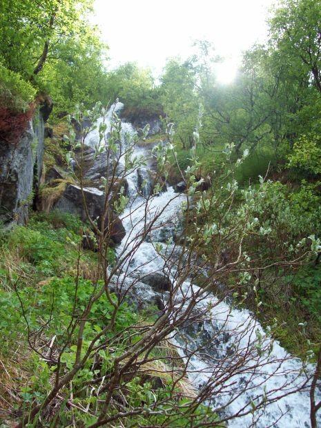 Ein kleiner Wasserfall..