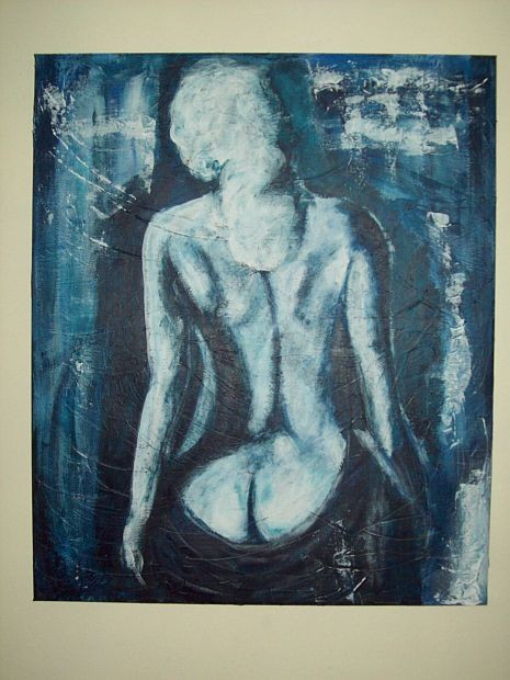 """Akt in Blau"""