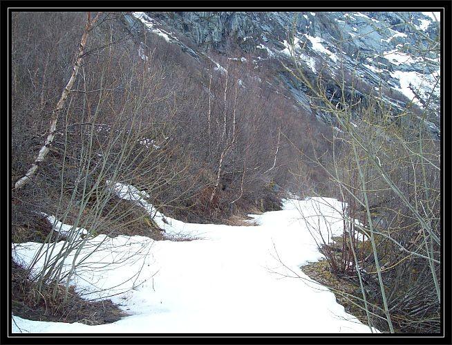hier war Schluss fuer uns, der Schnee lag noch Wadenhoch...