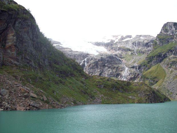 der Dettbreen...und der Raunsdalsvatnet...