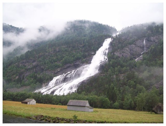Hildalfossen (Vidfossen) am 21.07.2010 nach schweren Regenfaellen