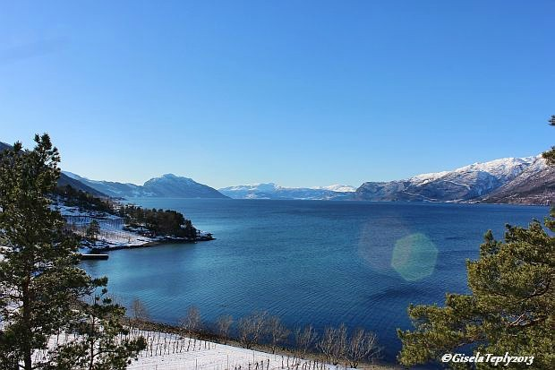 der Hardangerfjord...