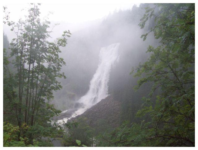 Espelandfossen am 21.07.2010 nach schweren Regenfaellen