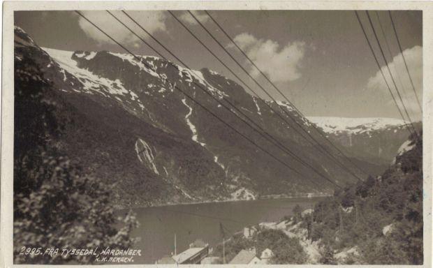 Alte Postkarte von Tyssedal voraussichtlich 1930 Jahre