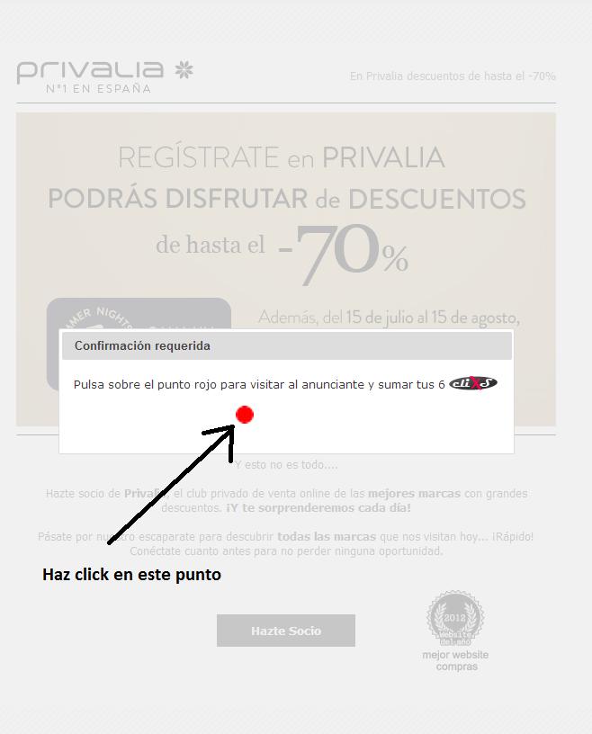 punto rojo clickxti