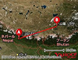 ネパール・ラサ路線