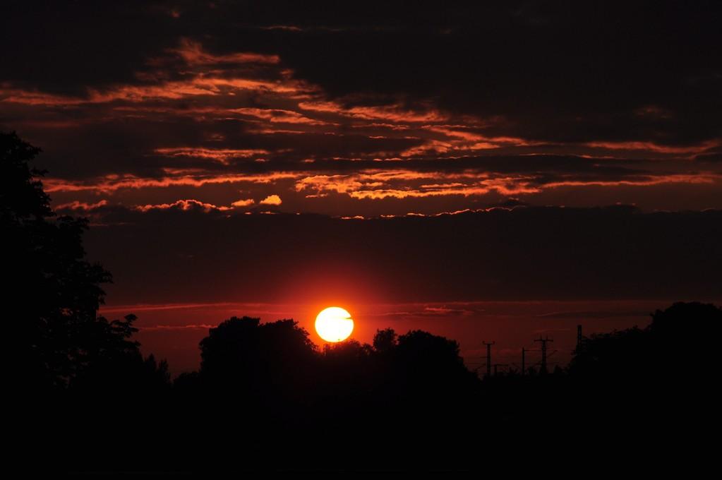 Sonnenuntergang über der Sternhöhe