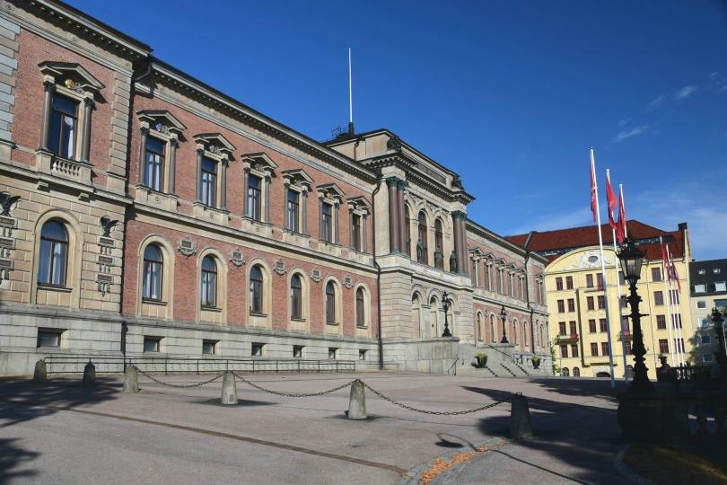 Hier kommt er her, der Student aus Uppsala: Das Hauptgebäude der Universität