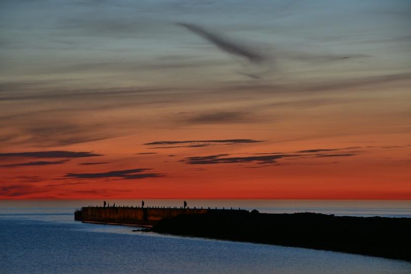 Der erste Campingplatz in Lettland: Leitungswasser stinkt, dafür aber um Mitternacht eine tolle Aussicht auf die Ostsee