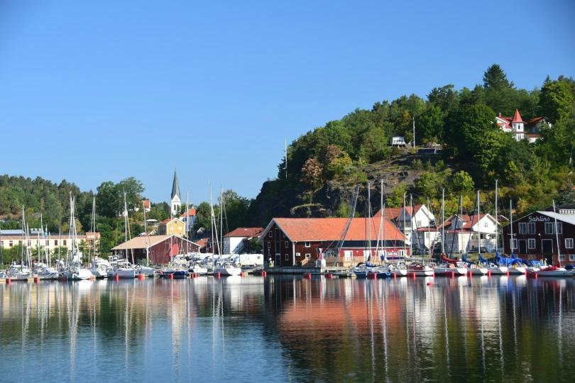 Am Ende eines langen Fjordes liegt sehr malerisch Valdemarsvik - mehr als eine Nacht wollte ich hier aber nicht bleiben