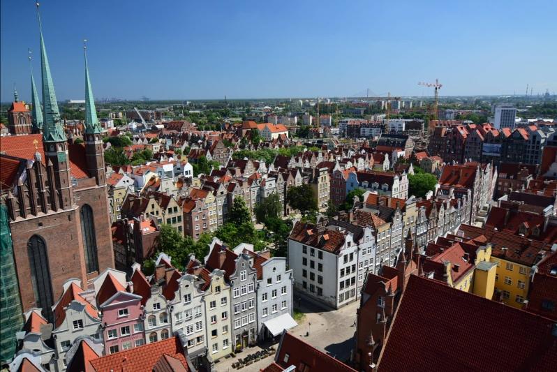 Blick vom Rathausturm über die Stadt
