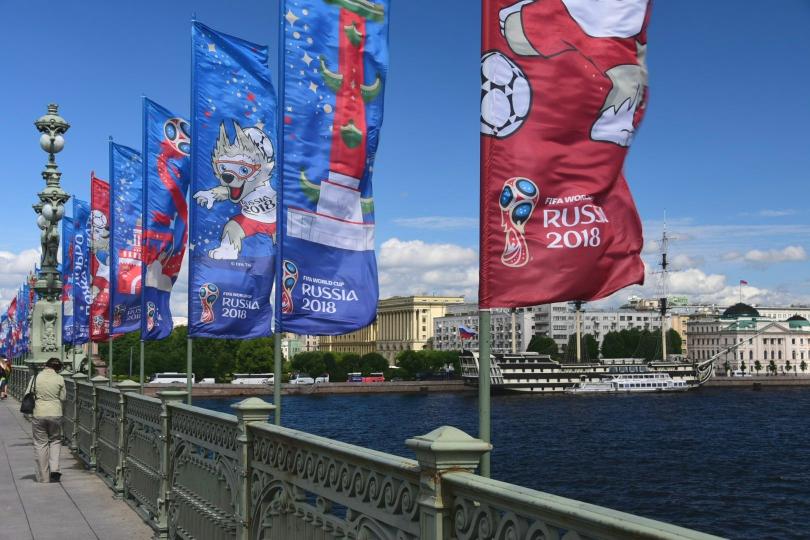 Die ganze Stadt steht zz. auch im Zeichen der Fußball-WM