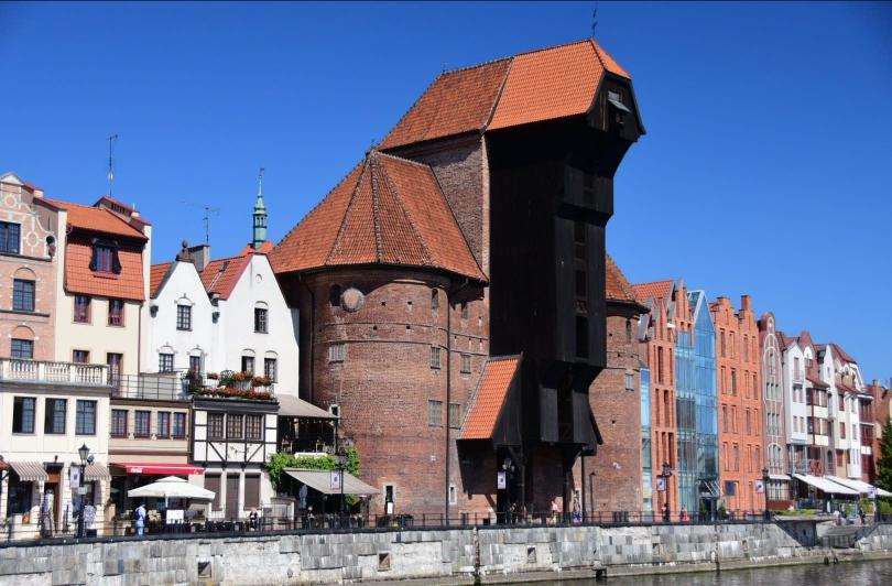Eines der Wahrzeichen Danzigs: der historische Kran