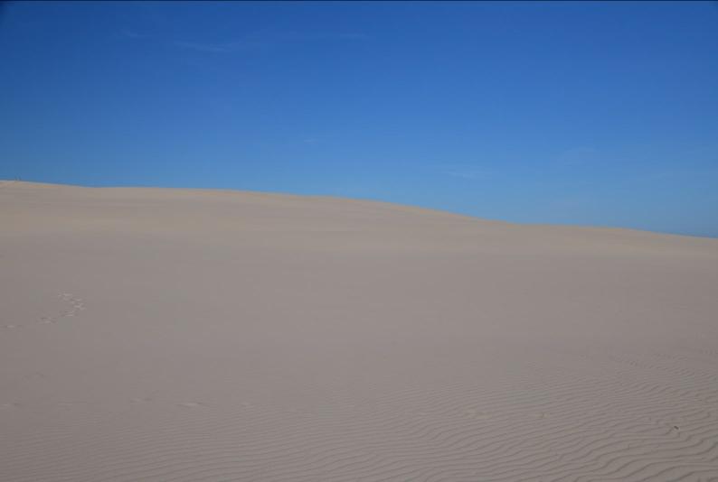 Und mit einem Mal steht man mitten in der Wüste