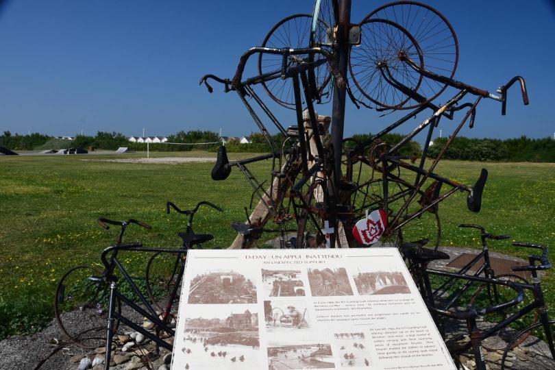 Selbst Fahrräder kamen im Krieg zum schnellen Vorrücken nach der Landung in der Normandie zum Einsatz