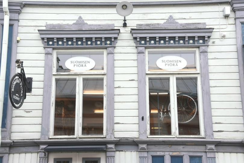 Finnisch für Anfänger: Pyörä = Fahrrad, war aber ja eigentlich auch jedem klar