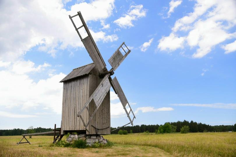 Früher soll es über 800 dieser Windmühlen gegeben haben, heute findet man sie nur noch vereinzelt