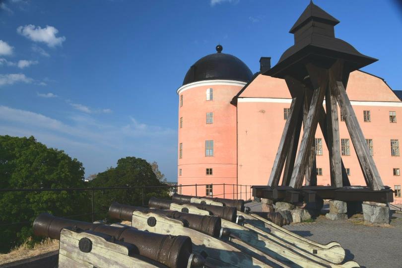 Über Uppsala thront das Schloss - es wohl eines der schmucklosesten Schlösser, das ich je gesehen habe