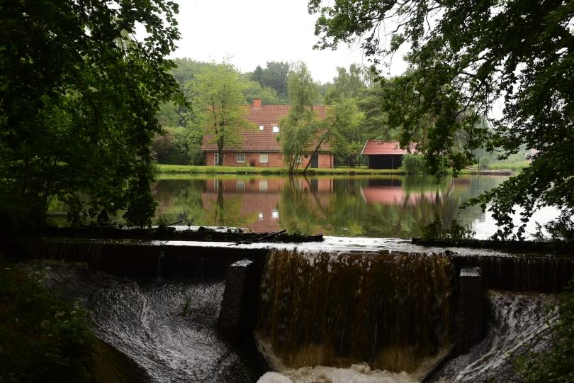Durch die Wassermassen ist der eine oder andere Mühlenteich, die es hier reichlich gibt, übergelaufen