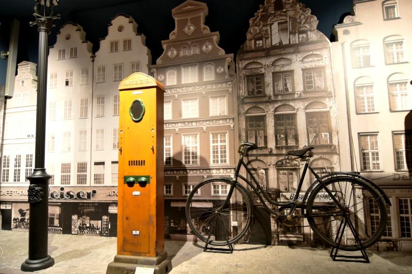 Ansichten einer Stadt eines Radfahrers