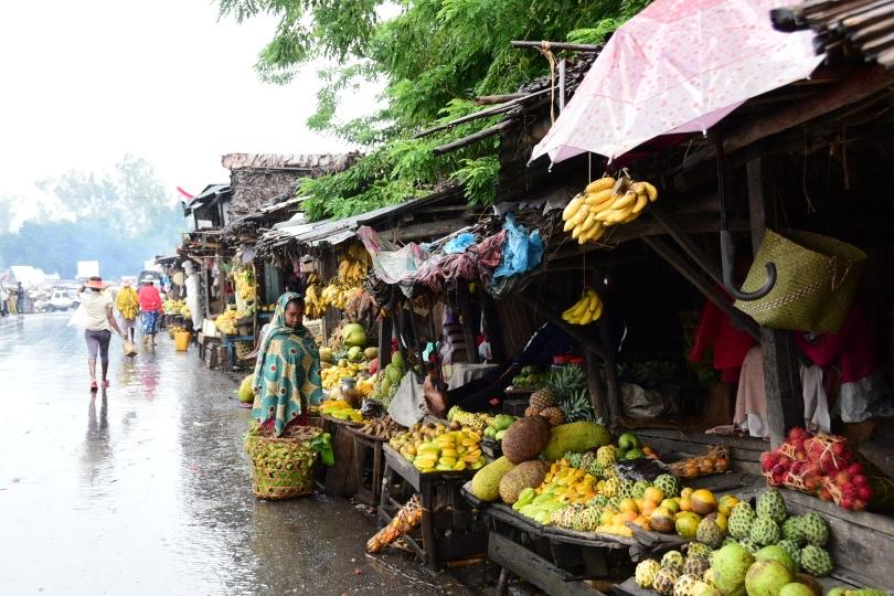Frisch, vielfältig und sehr appetitlich ist die Obstauswahl auf den lokalen Märkten