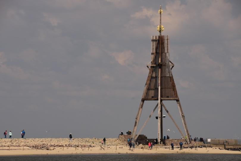 Die Kugelbake von Cuxhaven...