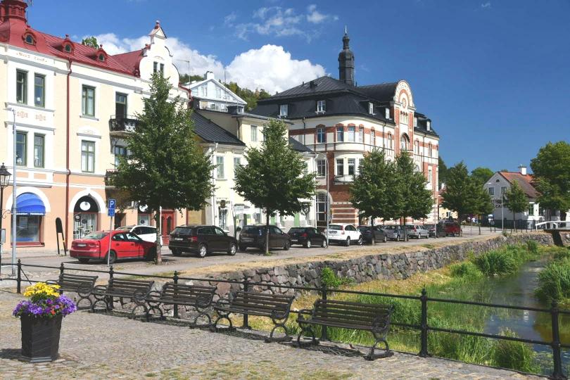 Söderköping lockt nicht nur mit einem schönen Stadtbild, sondern hier kann man auch lecker Kühlmittel auffüllen