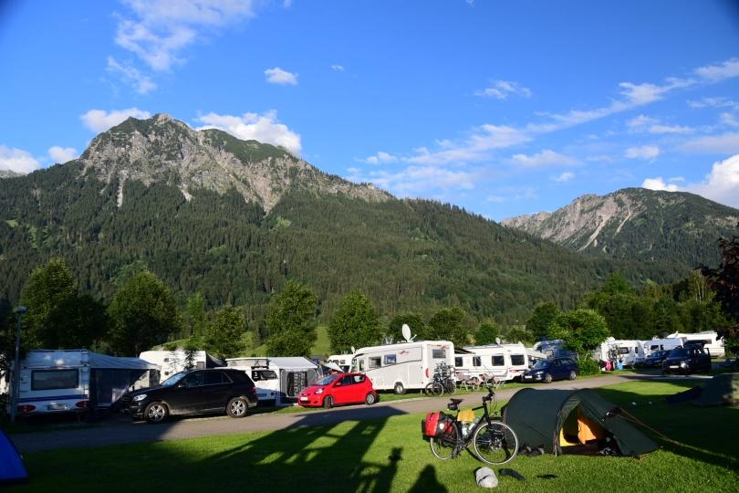 Campingplatz Oberstdorf - der Südzipfel