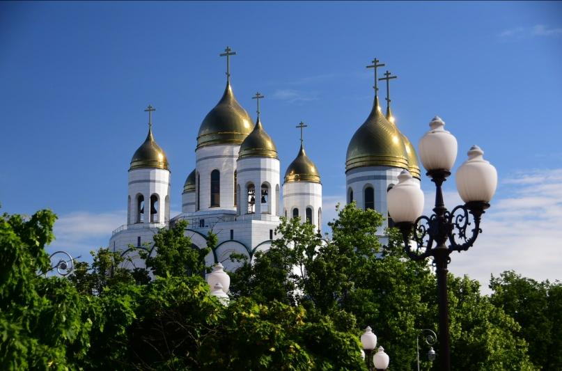 Selbstverständlich gibt es im Zentrum auch eine russisch-orthodoxe Kriche