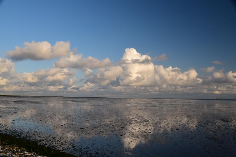 Wolkenbilder gehen an der Nordsee immer