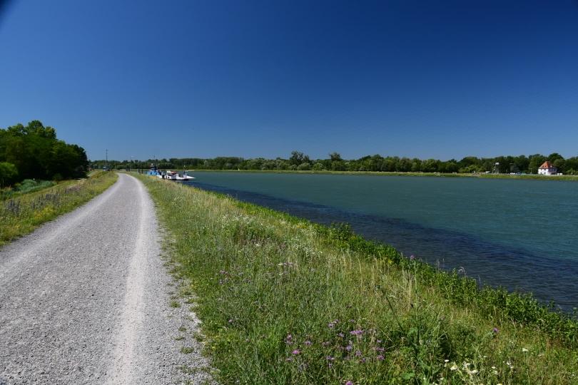 Warum ist es am Rhein so schön? Weiß ich auch nicht... Ähnlich wie auf dem Deich an der Nordsee, es ändert sich sehr lange nichts