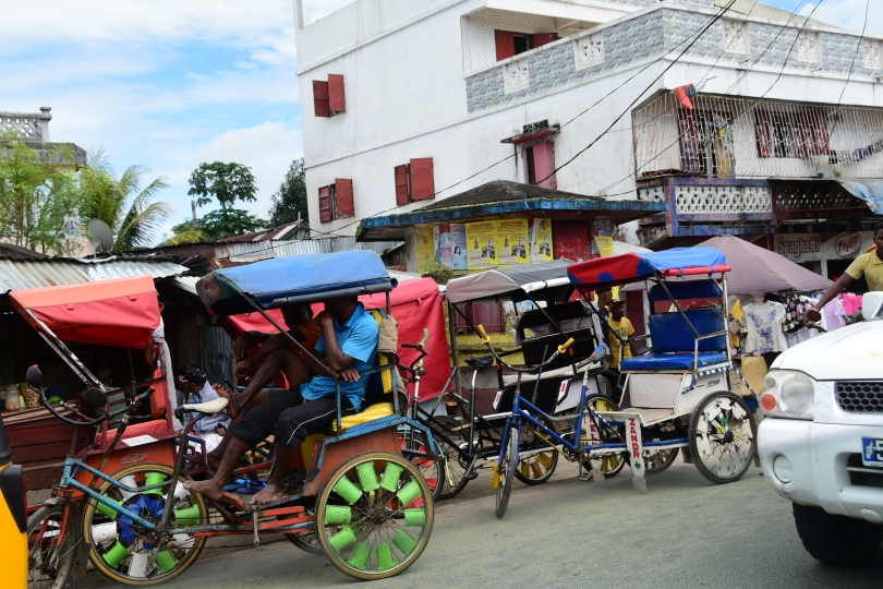 Hauptnahverkehrsmittel Fahrradrikscha