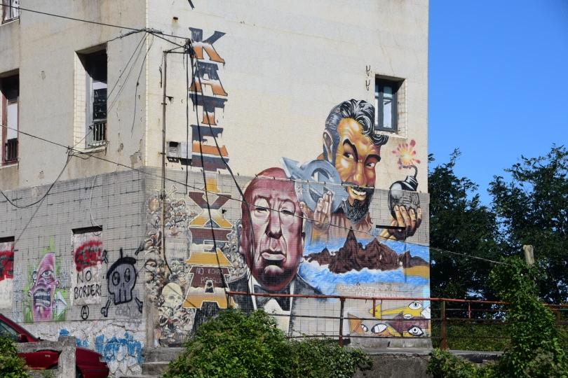 Mit Transparenten oder Wandmalereien unterstreichen die Basken überall sichtbar ihren Unabhängigkeitsdrang