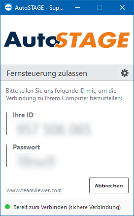 AutoSTAGE TeamViewer Quick Support Download