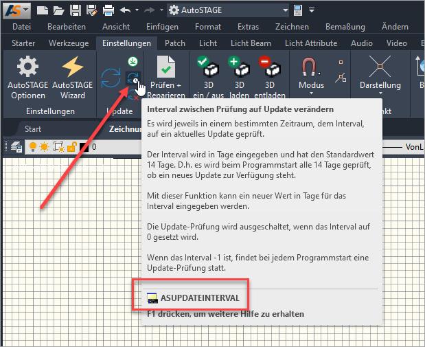 Anpassen des Update-Interval zur automatischen Prüfung auf Aktualisierungen