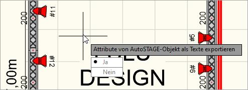 Befehlsoption Attribute von AutoSTAGE Objekten als Text exportieren