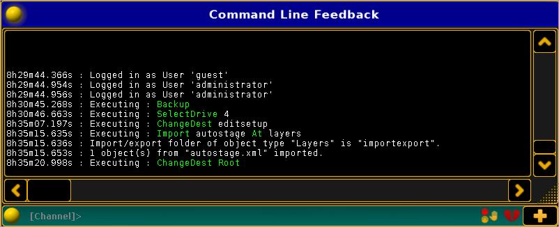 Ablauf des Imports in der Command Line