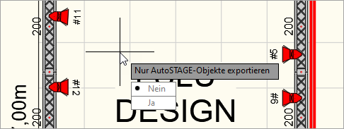 Befehlsoption nur AutoSTAGE Objekte exportieren