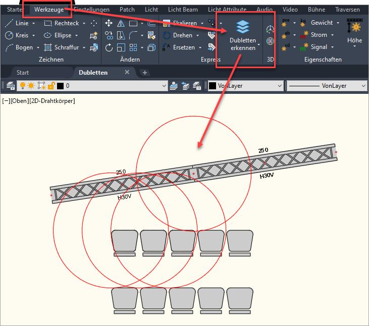 Dubletten erkennen mit ASDOUBLE aus dem Werkzeuge-Tab
