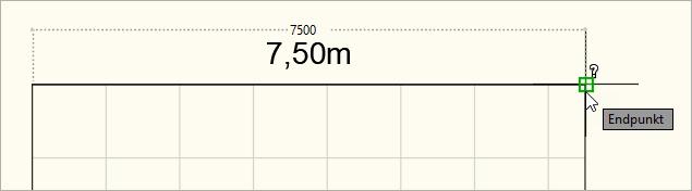 Gemessene Skalierung in Millimeter (1 Zeichnungseinheit = 1 Millimeter)