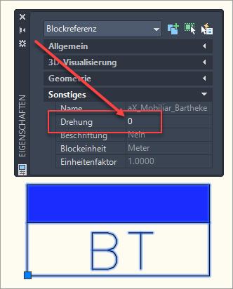 BT-Block mit Drehung 0°